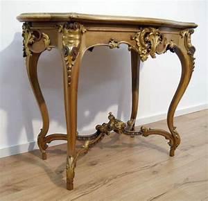 Rokoko tisch neo rokoko dresdner barock barock tisch for Tisch nussbaum