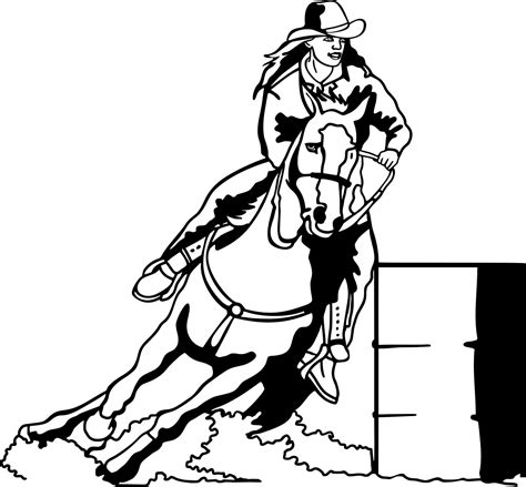 Western Rodeo Barrel Racing Decals Great To Display On