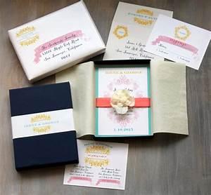 boxed wedding invitations modern beach wedding invitation With cost of boxed wedding invitations