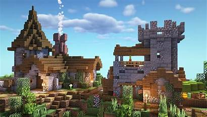 Minecraft Village Medieval Built Blueprints Building Starter