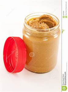 Jar Of Peanut Butter With Lid Stock Photo - Image: 23534580