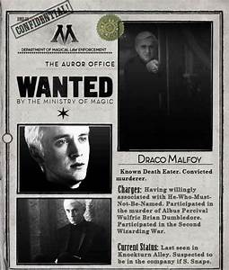 Draco malfoy wanted poster *Not willingly associated with ...