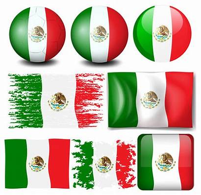 Flag Mexico Vector Many Clipart Graphics Icon