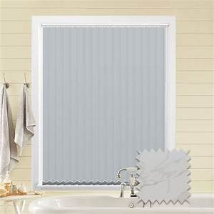 Made, To, Measure, Vertical, Blinds, In, Pvc, Blackout, Fabric, In, Picasso, White