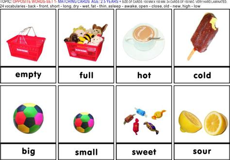 Number Names Worksheets » Images Of Opposite Words  Free Printable Worksheets For Pre School