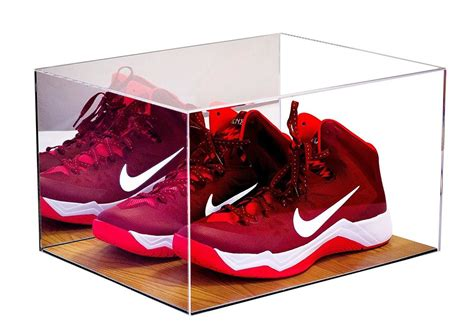 floor mirror for shoes basketball shoe acrylic display case with mirror and wood floor a025 ebay
