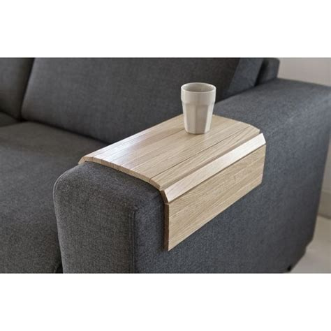 tablette pour canapé tablette pour accoudoir de canapé bois chêne flex