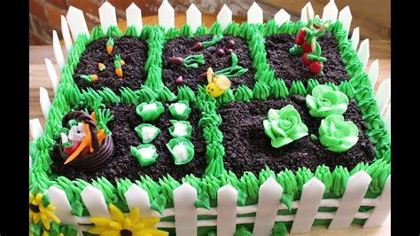 vegetable garden cake youtube