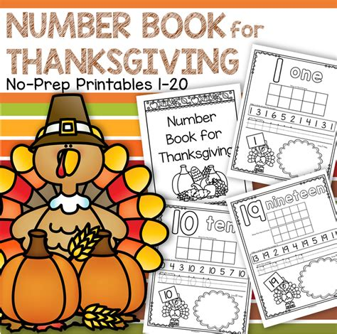 number counting book for thanksgiving 1 20 no prep printables