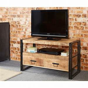 Bonsoni Baudouin Industrial Tv Stand Made From Reclaimed