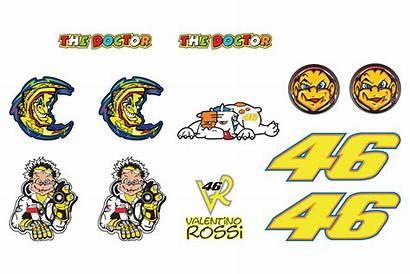 Rossi Valentino Stickers Sticker Motogp Stickerset