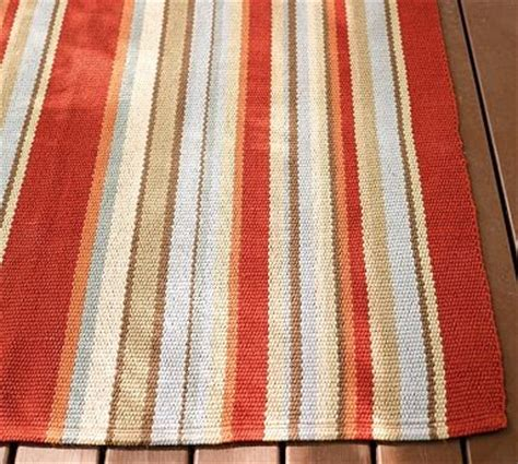 Pottery Barn Indoor Outdoor Curtains by Corded Stripe Indoor Outdoor Rug Contemporary Outdoor