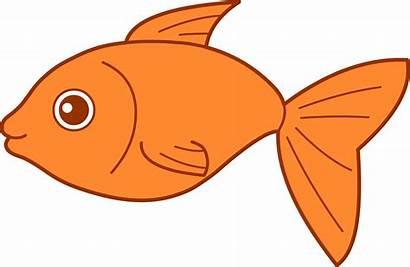 Happy Goldfish Fish Clip Gold Graphics Sweetclipart