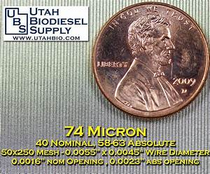 Micron To Mesh Size Chart Stainless Steel Mesh Screen 5 15 43 74 100 149 177