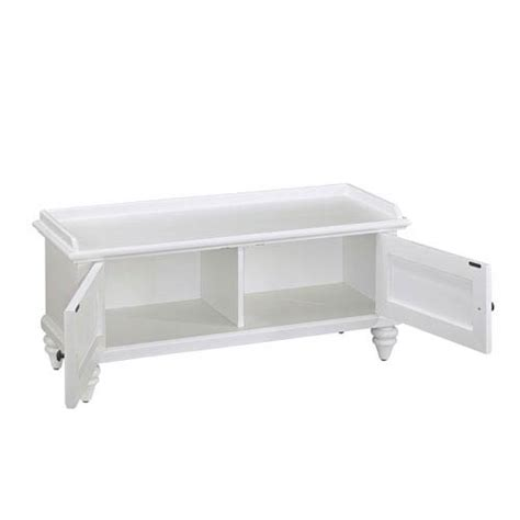 Storage Bench 40 Inches Wide by Home Styles Furniture Bermuda Brushed White 47 25 Inch