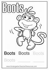 Boots Coloring Dora Diego Pages sketch template