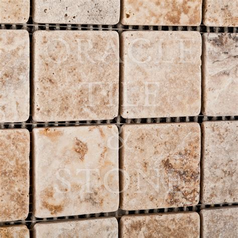 oracle tile and marble andean travertine 2 x 2 mosaic tile oracle tile