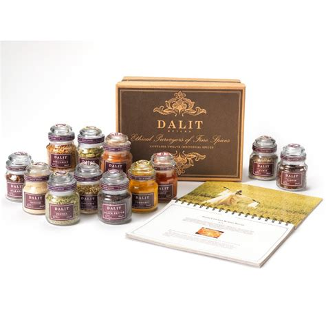Spice Set dalit spices gift set recipe book 12 spices dalit