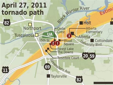 April 2011 Tornado Path Maps