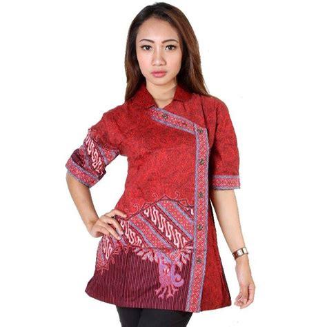 model baju batik kantor wanita kombinasi eksotis