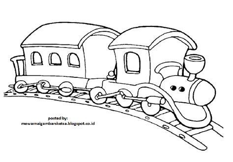 61+ sketsa gambar mewarnai bunga. Mewarnai Gambar: Mewarnai Gambar Sketsa Kendaraan Kereta Api 1