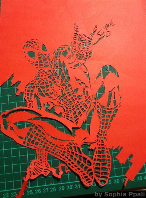 spiderman papercutting projects   vorlagen