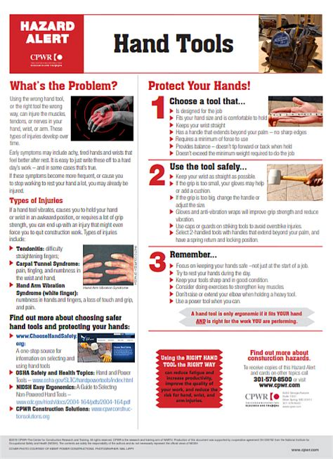 elcosh hand tools tips  choose    safely