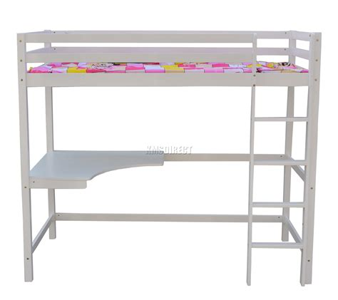wood bunk bed with desk foxhunter high sleeper cabin wooden bunk bed with desk