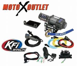 Kfi 3000 Lbs Winch Kit Atv Utv Steel Wire Rope Cable
