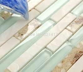 light blue kitchen backsplash aliexpress buy light blue glass shell mosaic tiles hmgm1111 backsplash