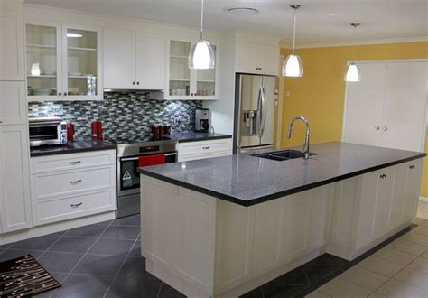 large galley kitchen brilliant splashback style narangba kitchen renovation 3652