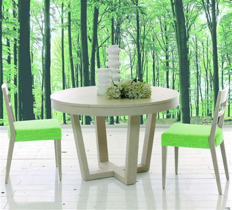 table ronde avec chaise table ronde de salle à manger avec rallonge brin d 39 ouest