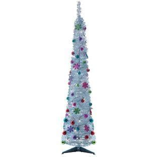 silver tinsel pop up tree 6ft now only 163 19 99 at argos hotukdeals