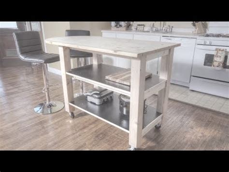 build  kitchen island  wheels youtube