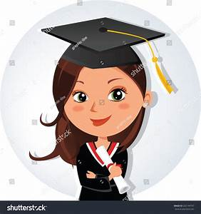 Beautiful Graduation Girl Young Beauty Graduate Stock ...