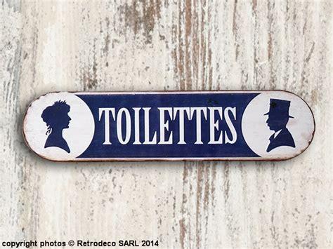 cuisine brocante plaque décorative toilettes déco brocante seb13539
