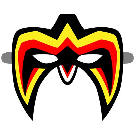 ultimate warrior mask template  printable papercraft