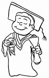 Graduation Coloring Pages Student Caps sketch template