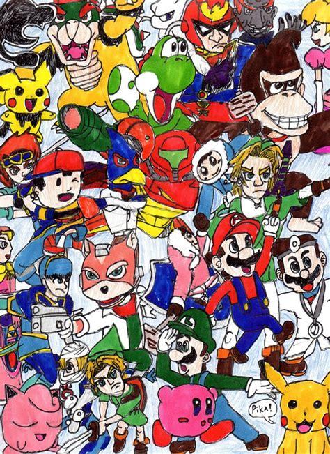 Super Smash Bros Melee Wallpaper Super Smash Bros Melee By Ssgcybermarioking On Deviantart