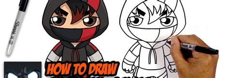 draw fortnite ikonik skin step  step tutorial