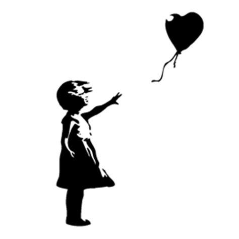banksy balloon girl stencil  stencil gallery