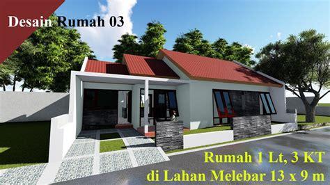 desain rumah  rumah  lantai  kt  lahan melebar