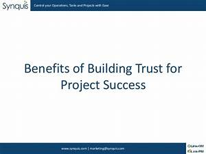 Building Trust among the Team for Project Success is Important