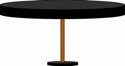 Clipart Round Transparent Desk Clear Tables Dining
