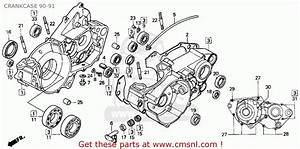 Honda Cr250r Elsinore 1991  M  Usa Crankcase 90