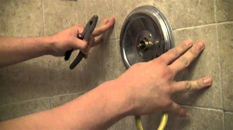 repair  moen shower faucet step  step youtube