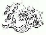 Mermaid Coloring Mermaids Printable Abstract Illustration Hard Coloringhome Popular Shayari Children Young sketch template