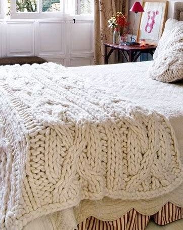 how to knit large blanket large knitted cable blanket