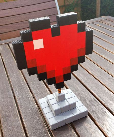 minecraft heart wood  steps  pictures