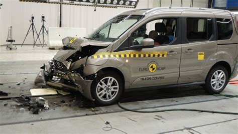 video crashtest ford tourneo connect  autobildde